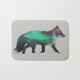Fox In The Aurora Borealis Bath Mat
