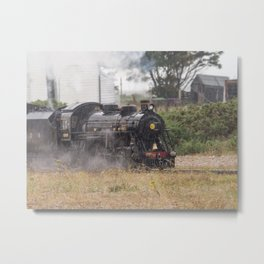 Train In Dungeness Kent Metal Print
