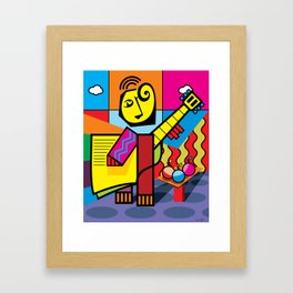 The musician and fruits Framed Art Print