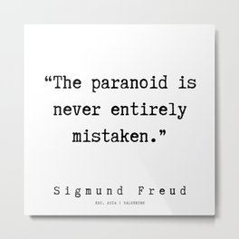 10  |   Sigmund Freud Quotes | 190926 Metal Print