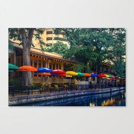 San Antonio Texas Riverwalk Colorful Wall Art Canvas Print