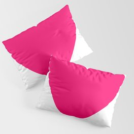 Neon Pink Heart Pillow Sham
