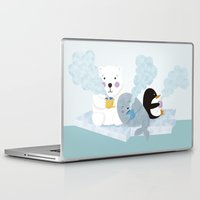 coffe Laptop & iPad Skins featuring polar coffe by Proyecto Melón