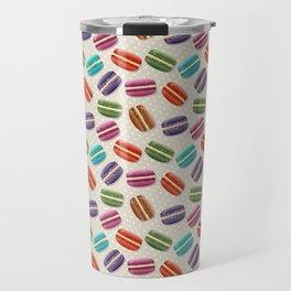 Cute Macarons Pattern with Polka Dots Travel Mug
