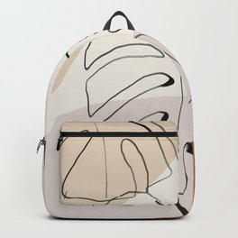 Minimal Abstract Art- Monstera Backpack