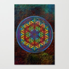 The Flower of Life (Sacred Geometry) 3 Canvas Print