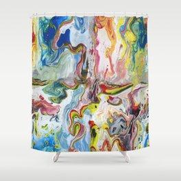 Pour Art Shower Curtain