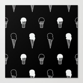 Ice Cream (inverse) Canvas Print