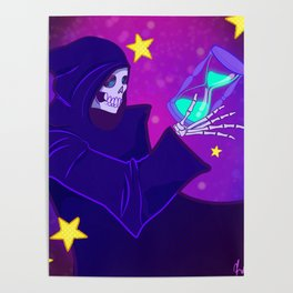 Grim Reaper Space and Time Poster
