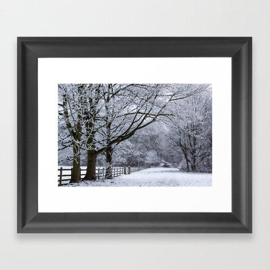 A Winters Lane Framed Art Print