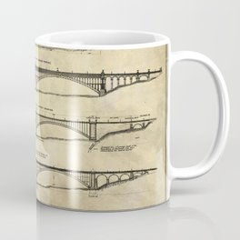 Washington Bridge Proposal Blueprint Plans Coffee Mug