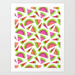 Juicy, juicy watermelon ... Art Print