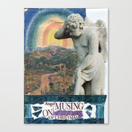 angel musing on visions of Christmas Canvas Print