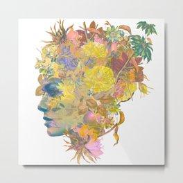 Tropical Woman Metal Print