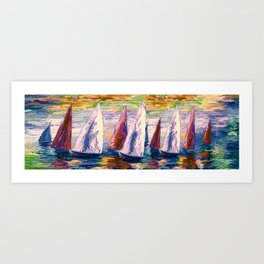 Wind on Sails by Lena Owens/OLena Art Art Print