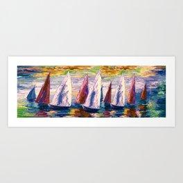 Wind on Sails by Lena Owens/OLena Art Art Print
