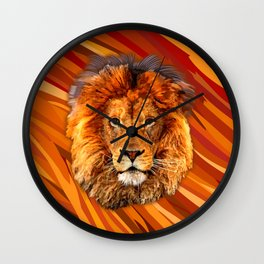 Old Lion Wall Clock