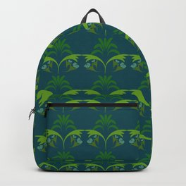 Green Wheat Floral Backpack