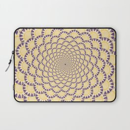 Lavender and Gold Sundial Spiral Laptop Sleeve