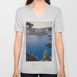 Wild Blue Lake Unisex V-Neck