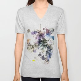 """Oops"" Pastel Paint  Splatter Abstract Unisex V-Neck"