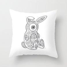 Rab-bit Weird Throw Pillow