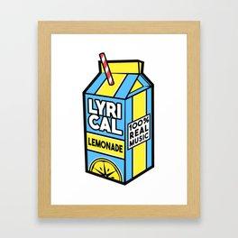 Lyrical Lemonade Framed Art Print