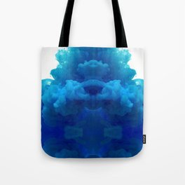 blue cloud Tote Bag