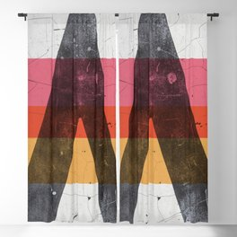 A minimal graphic design artwork Blackout Curtain