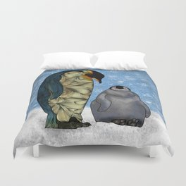 Emperor Penguins Duvet Cover