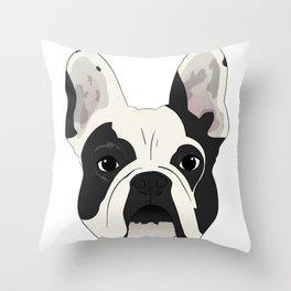 Custom Frenchie Portrait Throw Pillow