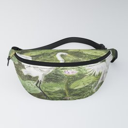 A couple of Storks in the Water-lily Lake Fanny Pack