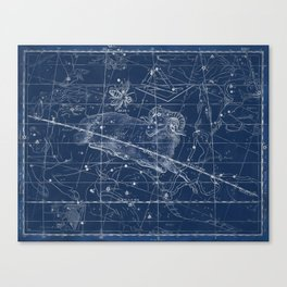 Aries sky star map Canvas Print