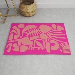 Pink Shapes Rug