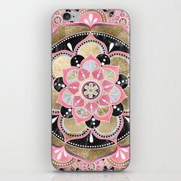 Elegant girly tribal mandala design iPhone Skin