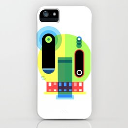 Skull glitch iPhone Case