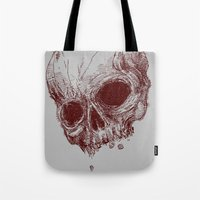 the mortal instruments Tote Bags featuring mortal coil by Isaboa