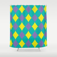 preppy Shower Curtains featuring Preppy by machmigo