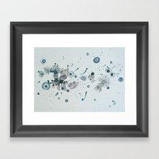 blue fly swatter Framed Art Print