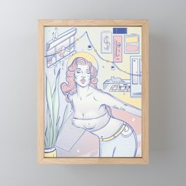 Girl Dancing in the Room Framed Mini Art Print