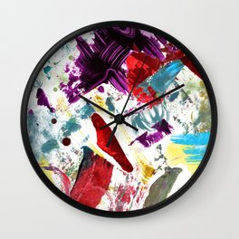 Funky painted mess Wall Clock