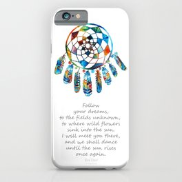 Follow Your Dreams - Colorful Native American Art - By Sharon Cummings iPhone Case