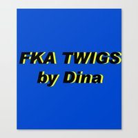 fka twigs Canvas Prints featuring FKA TWIGS by DINA LOPEZ