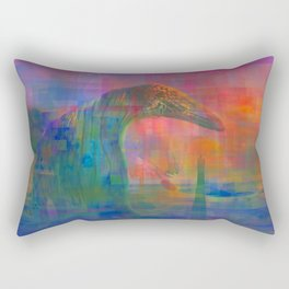 TIGERS, SNAKES AND QUIETGAMES, art piece about a psychedelic stoll through the ocean Rectangular Pillow