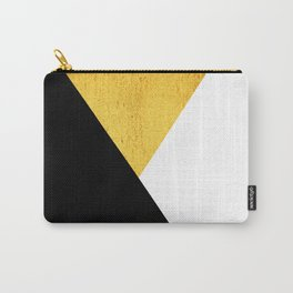 Gold & Black Geometry Carry-All Pouch