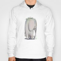 baby elephant Hoodies featuring Baby Elephant by Corner HL