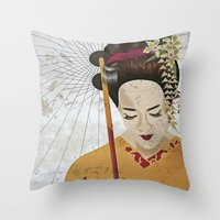 broken Throw Pillows featuring Broken by DanaTina