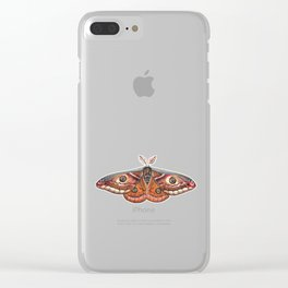 Small Emperor Moth (Saturnia pavonia) Clear iPhone Case