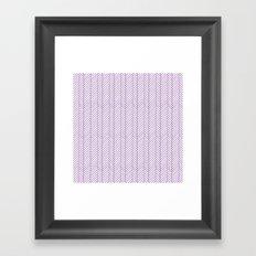 Herringbone Orchid Framed Art Print