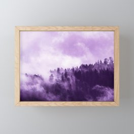 Clear away the fog to see the light. Purple Framed Mini Art Print